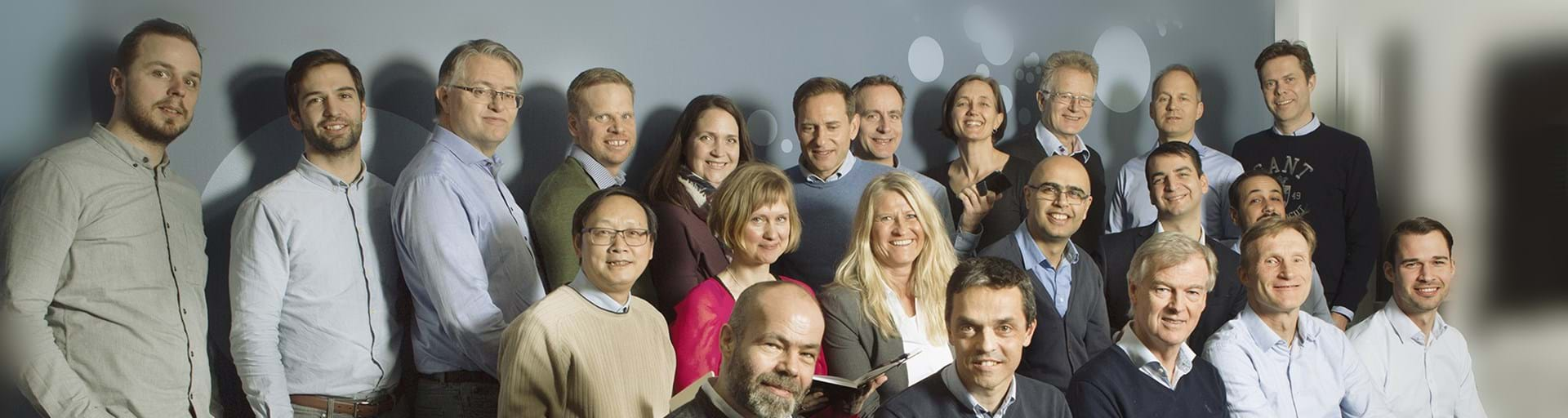 Team portrait of Cambi employees in Asker